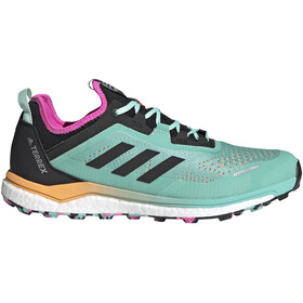 adidas TERREX Agravic Flow Trail Running Shoes Men, acid mint/core black/screaming pink